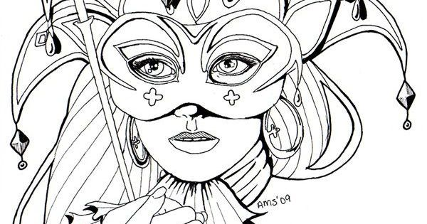 Coloring Pages For Adults Masks : Image result for coloring pages masks of venice carnival