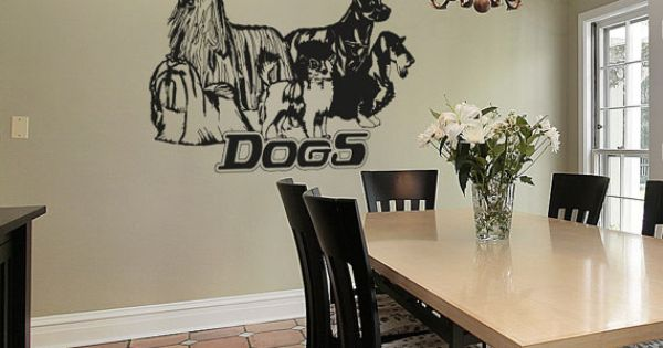 Vinyl Wall Decal Sticker Dogs OSAA615s by Stickerbrand on
