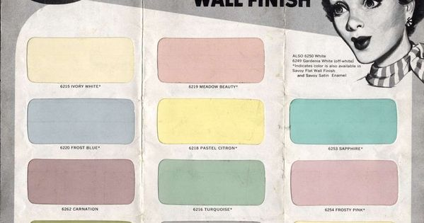 paint palette 1950s color pinterest pale yellow. Black Bedroom Furniture Sets. Home Design Ideas