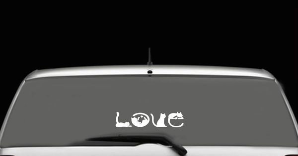 Cat Love Car Decal | P...