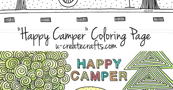 happy camper coloring pages - photo#25