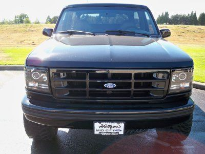 Ford F150 1992 1996 Black Projector Headlights With Halo And Led Ford F150 Ford F150 Custom 1994 Ford F150