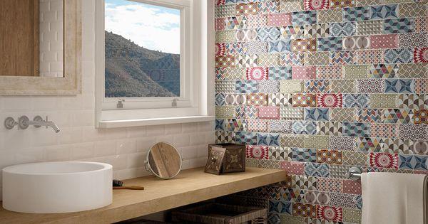 Azulejo metro patchwork ba o azulejo semimanual cocinas - Decoracion banos azulejos ...