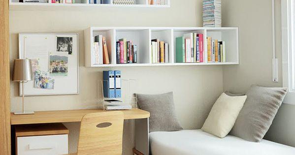 Quarto pequeno  Home Office  Pinterest  Quarto pequeno