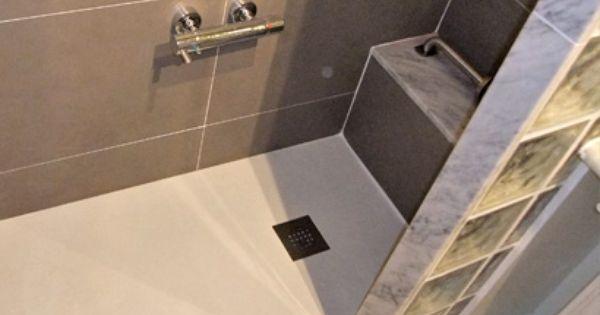 Hacer plato de ducha de obra con gresite antideslizante en - Estantes para interior ducha ...