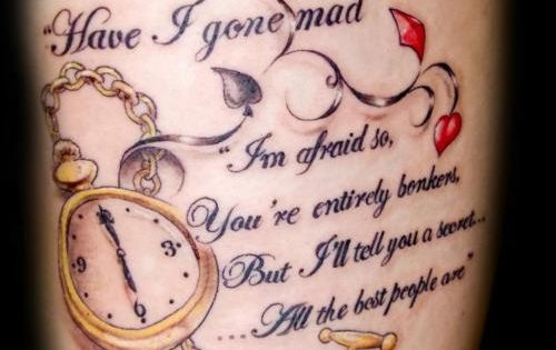alice in wonderland tattoos ideas - Google Search