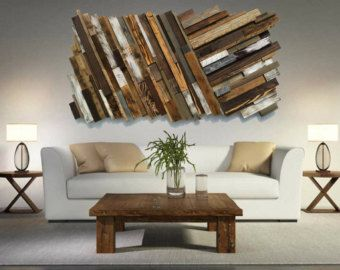 Reclaimed Wood Wall Art Free Shipping Rustic Art Abstract Wood