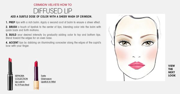 Courtesy of Sephora- How-to DIFFUSED LIP (Color Vision Makeup Trends)