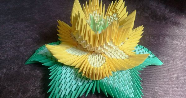 How to make 3d origami lotus flower origami pinterest origami fleurs de lotus et fleur - Origami fleur de lotus ...