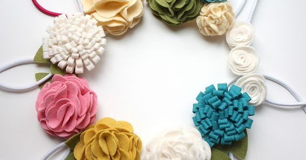 different styles of felt flowers tutorial
