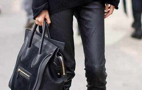 black leather leggings. NMFallTrends
