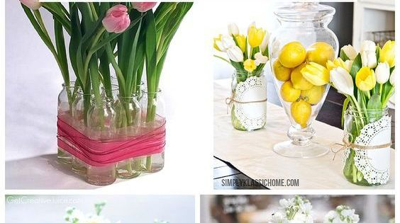 Spring Decorations: Centerpieces   Easter baby and Spring
