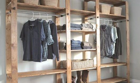 Closets bacanas de pessoas reais ripas de madeira for Closet grandes y baratos