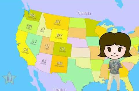 Great way for the kids to learn the states - better than ...