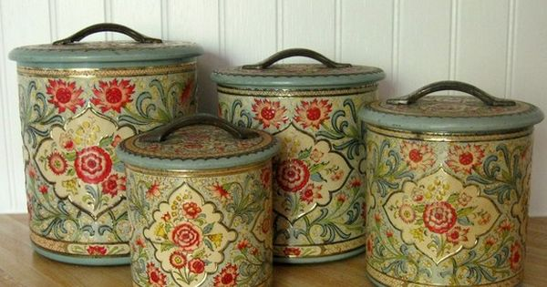 beautiful kitchen canisters these would totally match my kitchen and look beautiful 10653