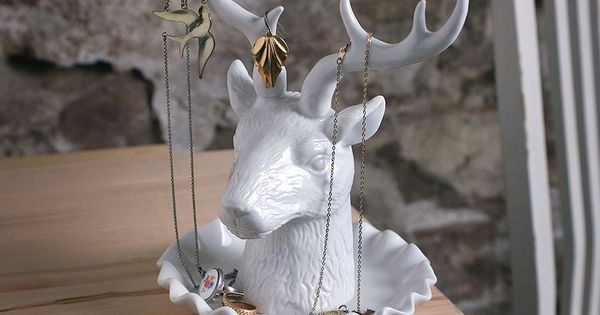 imm living deer jewelry holder