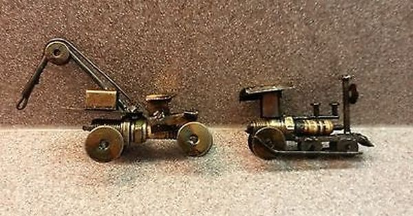 Art Sculpture Vintage Toy Car Train Nuts Bolts Spark Plugs Hand Made View More On The Link Http Www Zeppy Io Product Toy Car Sculpture Art Spark Plug