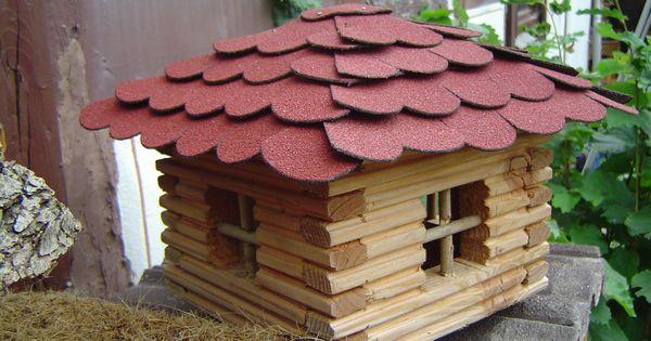 vogelhaus blockhaus f r v gel bauanleitung zum selber bauen vogelhaus pinterest. Black Bedroom Furniture Sets. Home Design Ideas
