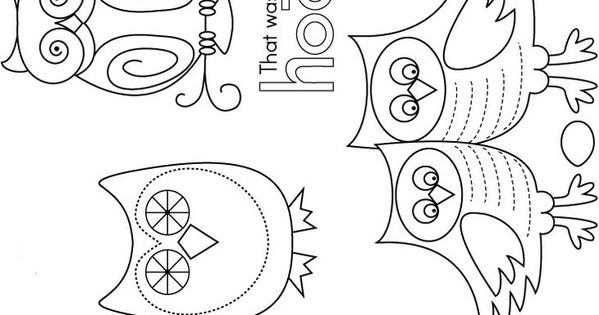 Cute owl embroidery patterns