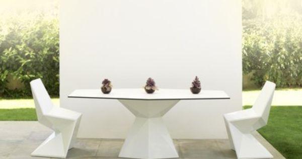 Table De Repas Vertex Mesa Blanc Vondom Par Karim Rashid 180 90