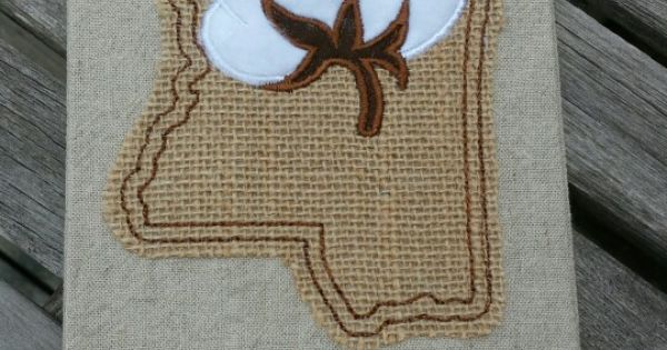 Mississippi Cotton Boll Towel Mississippi Alabama