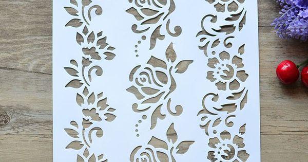flower layering stencils for walls painting scrapbooking stamp album S/&K