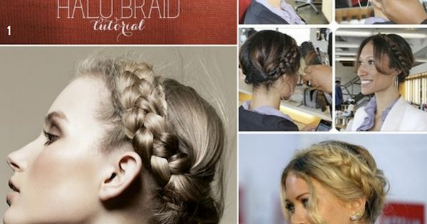 How To Halo Braid / Braided Crown DIY Tutorials ~ no. 5