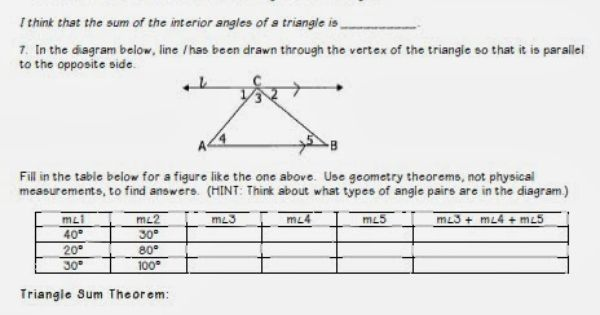 kelsoe math triangles unit interior angle sum and