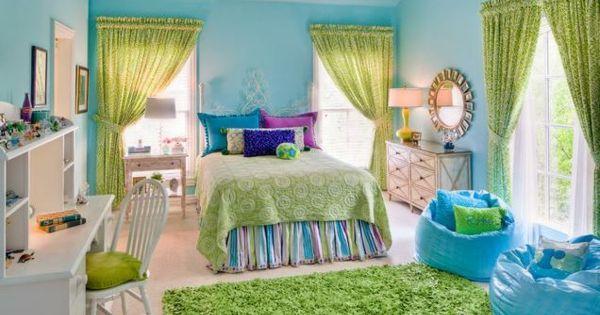 teenager zimmer m dchen ideen himmelblau gr n girl rooms pinterest gr n gr ne zimmer und. Black Bedroom Furniture Sets. Home Design Ideas