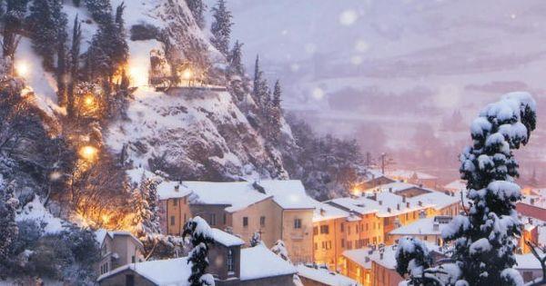Italian winter scene