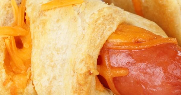 Cheesy Crescent Roll Hot Dogs Recipe Hot Dogs Sprinkled