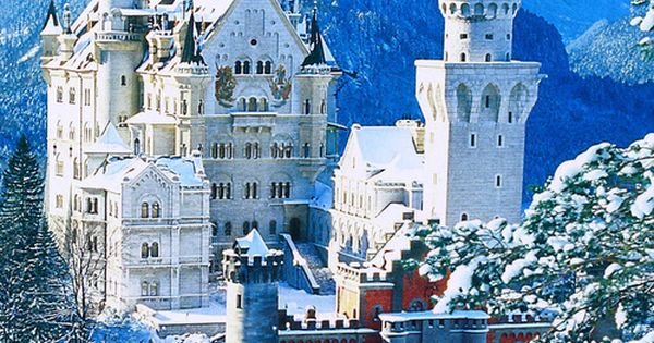 The real Cinderella's Castle. Neuschwanstein Castle, Bavaria, Germany. -This is going on