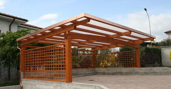 Wooden Carport Arco Frontale Gazebodesign Wooden Carports Carport Designs Wood Carport Kits
