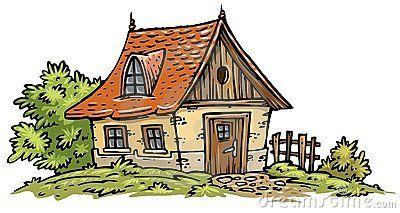 Old Cottage Clip Art House Cartoon Cottage Drawing Cottage Illustration