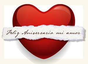 Sorprendente Tarjeta Romántica Feliz Aniversario