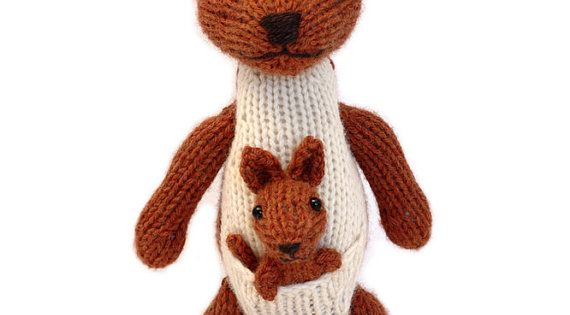 Kangaroo and Joey Knitting Pattern Kangaroos, Knitting patterns and Patterns