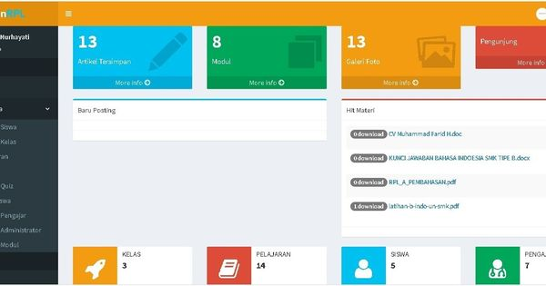 Source Code Website Sekolah E Learning Berbasis Php E Learning Php Website