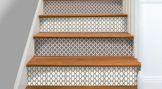 Kitchen Bathroom Wall Stair Riser Tile Decals Vinyl