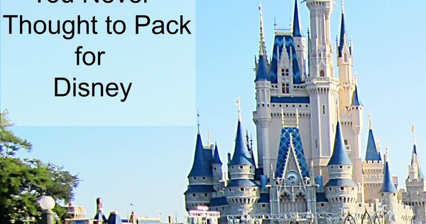 packing tips for walt disney world resorts and parks. Good travel tips