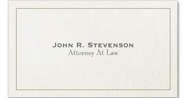 Classic Attorney Soft Linen Look Business Cards Lawyer