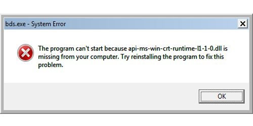 How To Fix Api Ms Win Crt Runtime L1 1 0 Dll Is Missing Programming