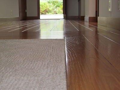 Wood Floor With Carpet Inlay Flooring