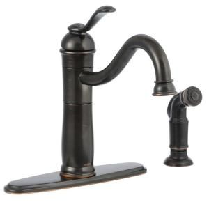 Ultra Faucets Bronze Single Handle Standard Kitchen Faucet With