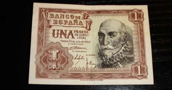 Billete De Una Peseta Año 1953 Gastos De Envio Incluidos Nacional Billete Una Pese Http Barcelona Valor De Monedas Antiguas Dinero Antiguo Billetes