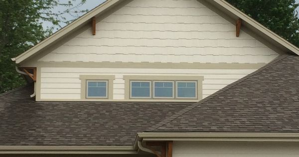 Cedar Soffit Brackets With Gable Shaker Siding Craftsman