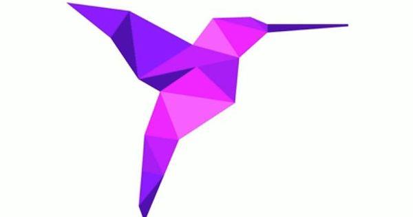 purple origami hummingbird | For Kymn | Pinterest ... - photo#18
