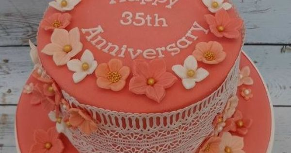 What Is The 35th Wedding Anniversary Gift: Coral 35th Wedding Anniversary Cake