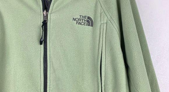 THE NORTH FACE Green Zip Up Fleece Jacket Large | Fleece
