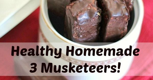 Healthy Homemade 3 Muskketeers [vanilla version] | Recipe | Candy Bars ...
