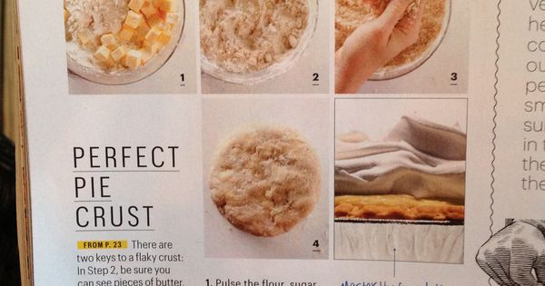 Perfect pie crust, Pie crusts and Crusts on Pinterest